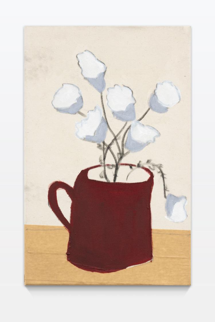 Zahel esther blumen in roter vase gregor hildebrandt muenchen